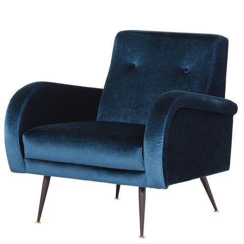 Hughes Lounge Chair |  Midnight Blue