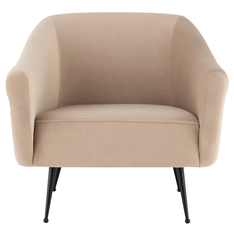 Lacie Lounge Chair | Nude/Black Matte