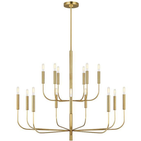 Brianna 15-Light Chandelier | Burnished Brass