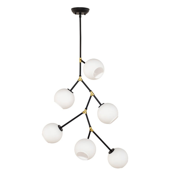 Atam 6-Light Pendant | White/Black
