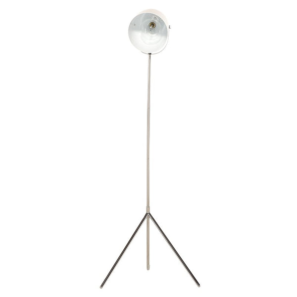 Abby Floor Lamp | White/Chrome
