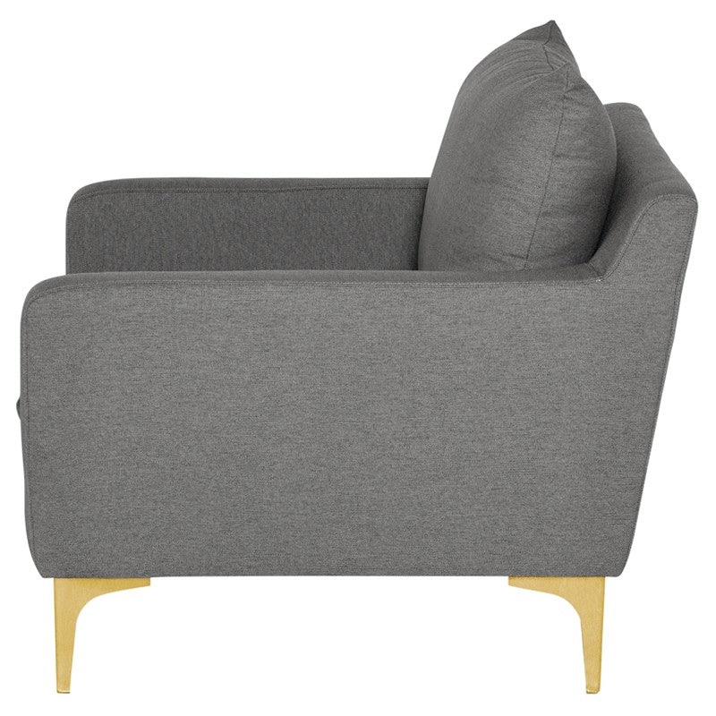 Andy Lounge Chair |  Slate Grey