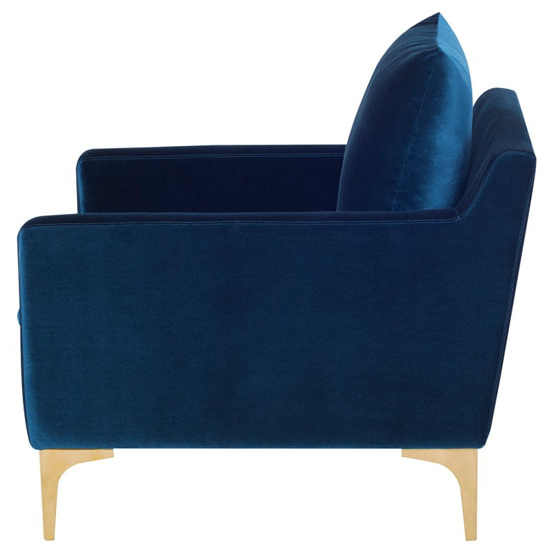 Andy Lounge Chair |  Midnight Blue