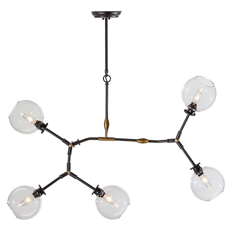Atam 5-Light Pendant | Clear