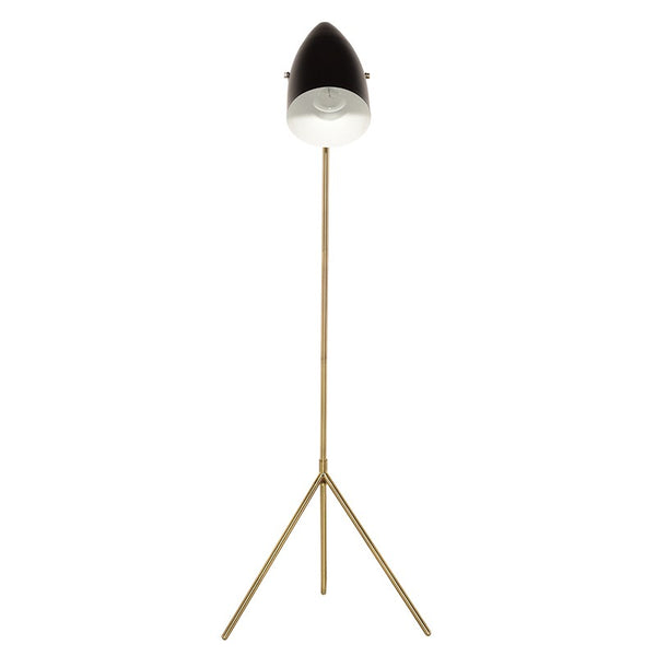 Abby Floor Lamp | Black/Brass