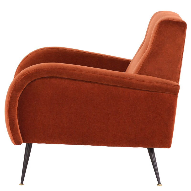 Hughes Lounge Chair |  Rust