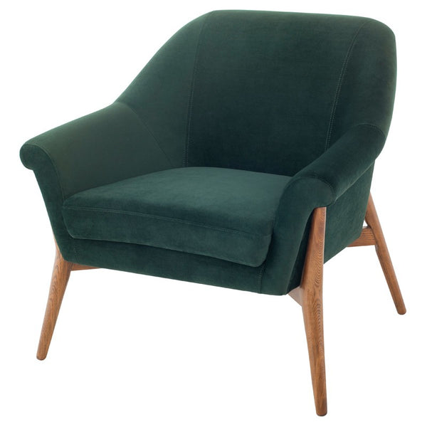 Charlie Lounge Chair |  Emerald Green