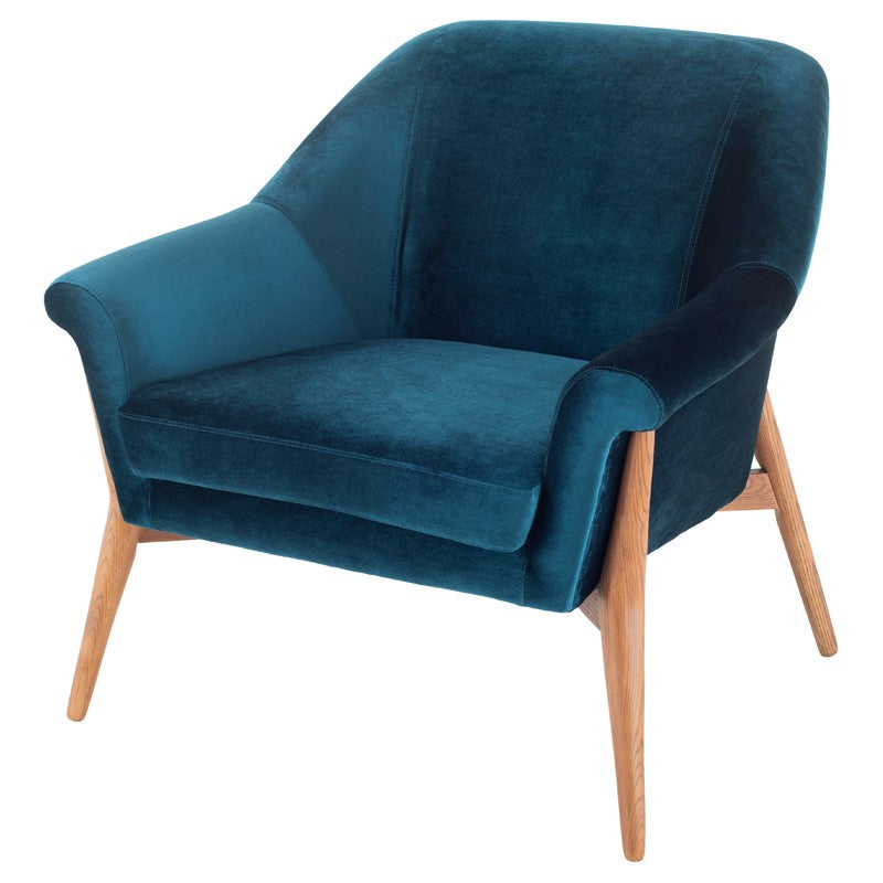 Charlie Lounge Chair | Midnight Blue