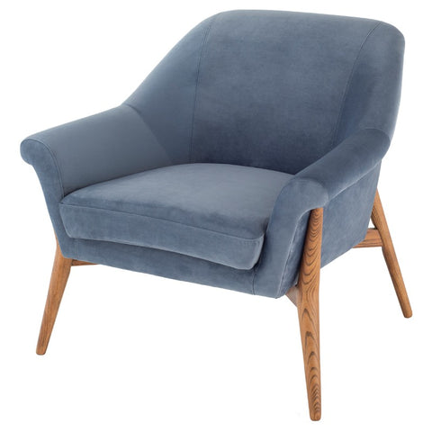 Charlie Lounge Chair |  Dusty Blue