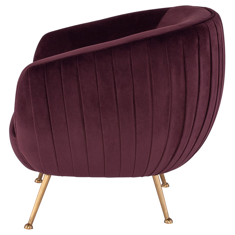 Sophia Lounge Chair |  Mulberry