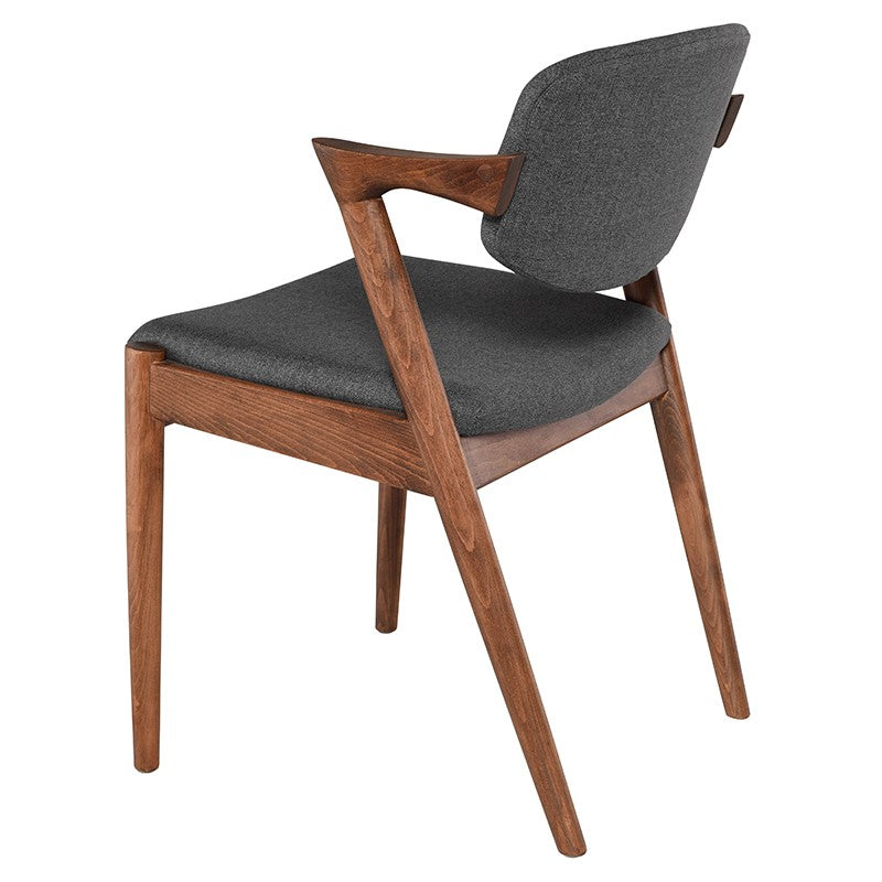 Celli Dining Chair | Grey/Walnut