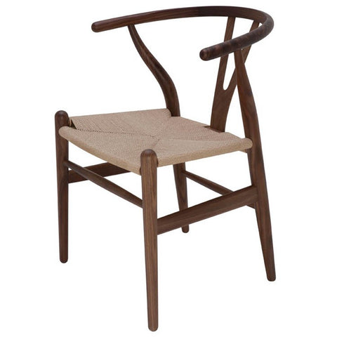 Alben Dining chair | beige seat with walnut frame