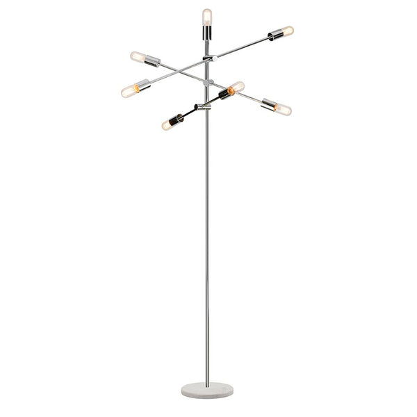 Baron Floor Lamp | Chrome/White