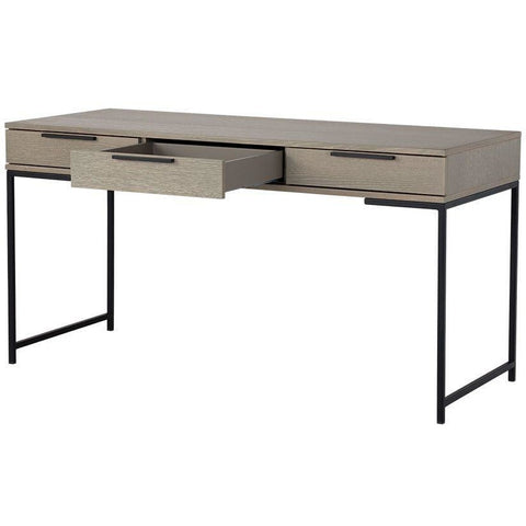 Rilo Desk | Black/ Taupe