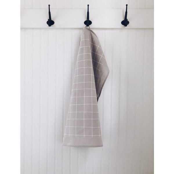 Tea Towel - Grey Grid