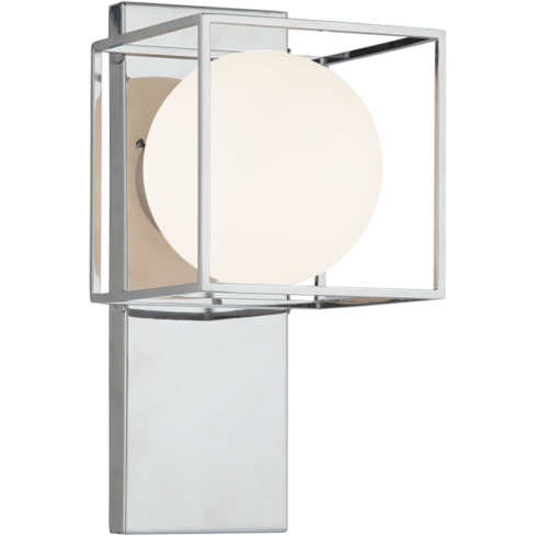 Squircle 1-Light Wall Sconce | Chrome