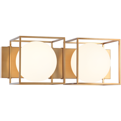 Squircle 2-Light Wall Sconce | Gold