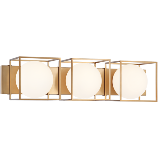 Squircle 3-Light Vanity | Gold