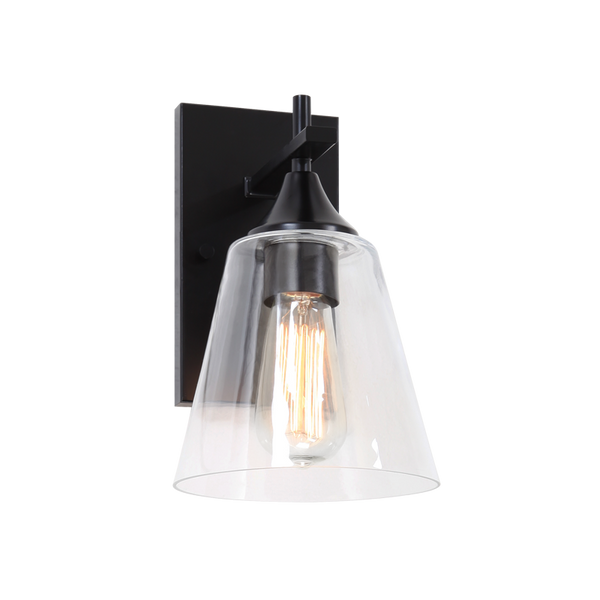 Hollis 1-Light Wall Sconce | Black