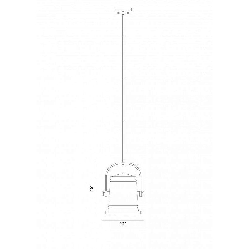 "Secchio 12"" LED Pendant