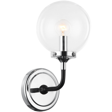 Particles 1-Light Wall Sconce | Chrome/Clear