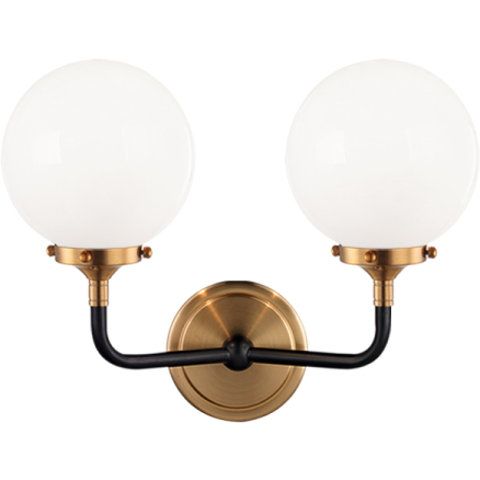 Particles 2-Light Wall Sconce | Aged Gold