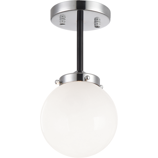 Maru Flush Mount | Chrome/Opal
