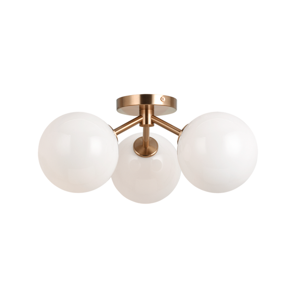 Novo 3-Light Flushmount | Gold/Opal