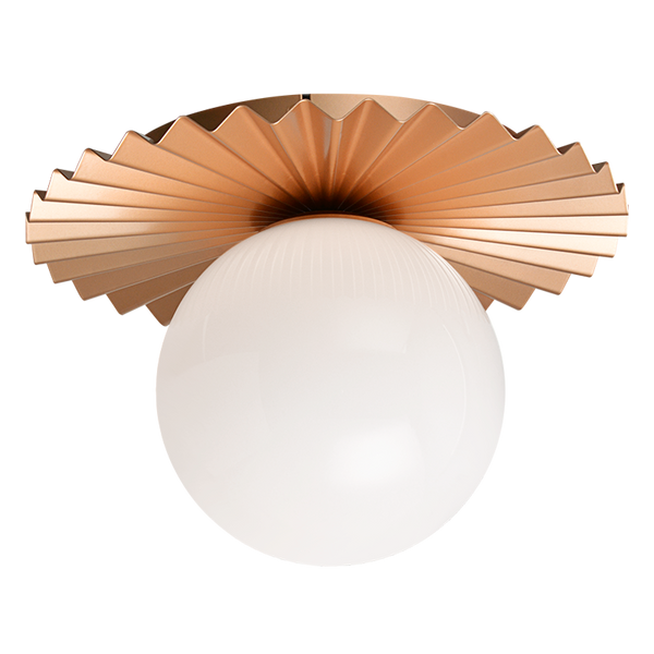 Modern Ruff Flush Mount (Large) | Gold