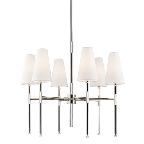 Bowery Chandelier | Polished Nickel