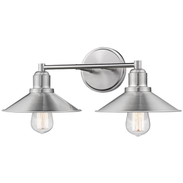 Casa 2-Light Vanity Light | Brushed Nickel