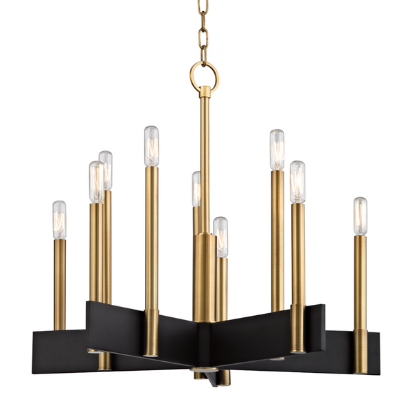 Abrams 10-Light Chandelier | Aged Brass