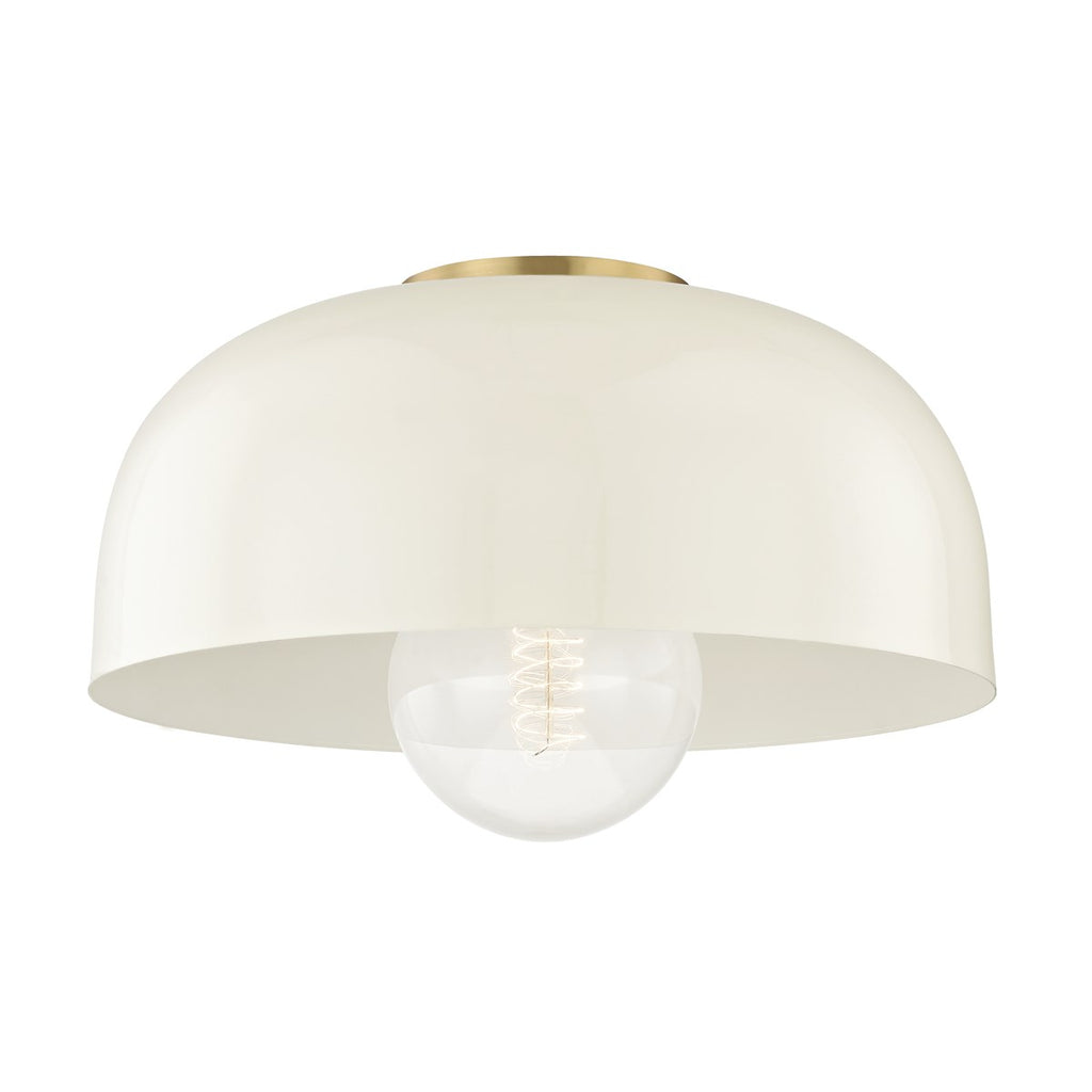 Avery Semi Flush | Aged Brass/ Cream