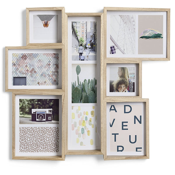 Multi Wall Edge Photo Display | Natural Ash wood