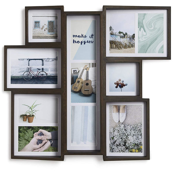 Multi Wall Edge Photo Display | Aged Walnut