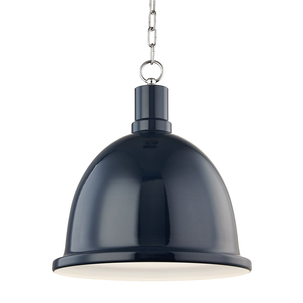 Blair Pendant | Polished Nickel/ Navy