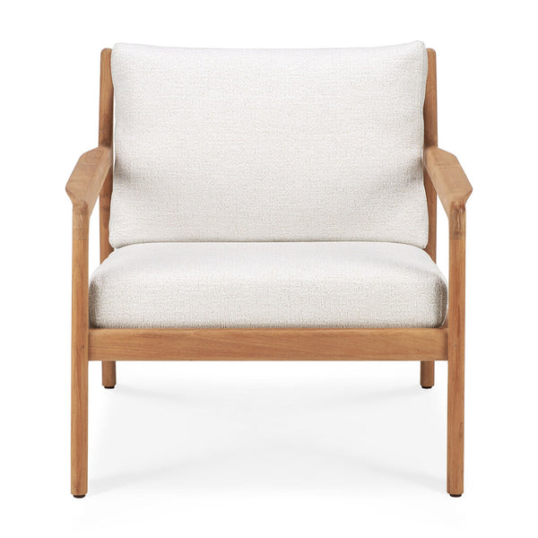 Teak Jack Outdoor Lounge Chair | Off-White