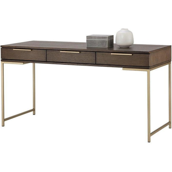 Rilo Desk | Gold/ Umber