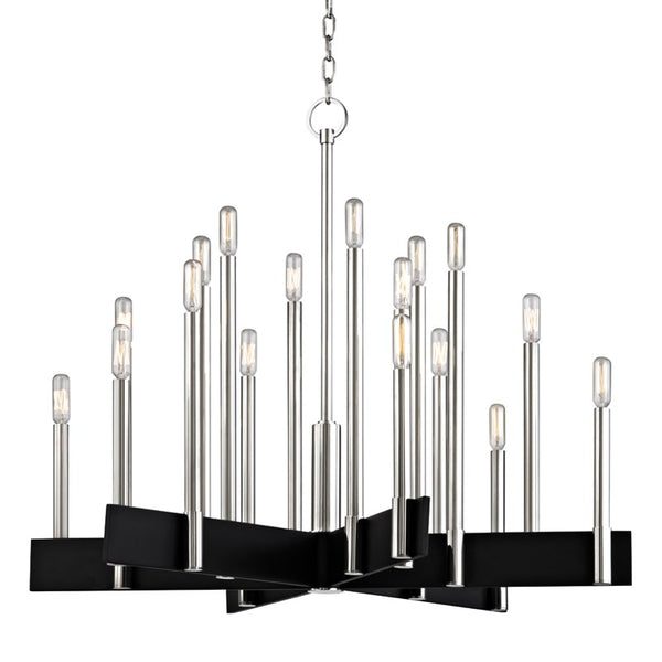 Abrams 18-Light Chandelier | Polished Nickel