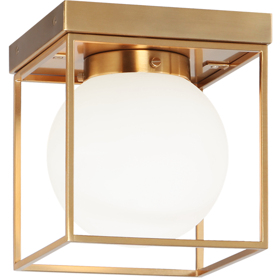 Squircle 1-Light Flush Mount | Aged Gold Brass