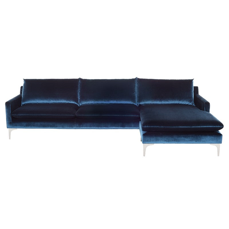 Andy Flip Sectional Midnight Blue