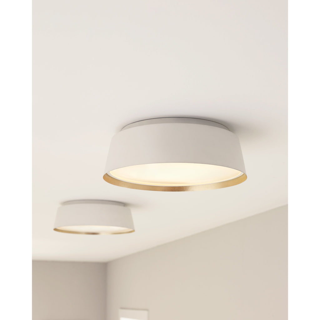 Asher Flush Mount | Matte White