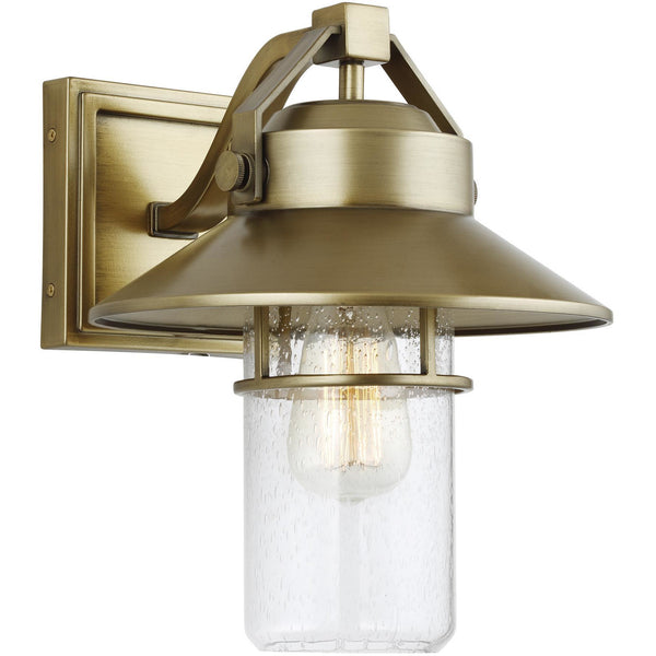 Boynton Wall Lantern (Medium) | Painted Distressed Brass