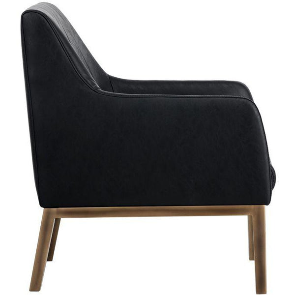 Wolf Lounge Chair  | Vintage Black