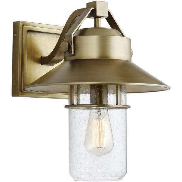 Boynton Wall Lantern (Large) | Painted Distressed Brass