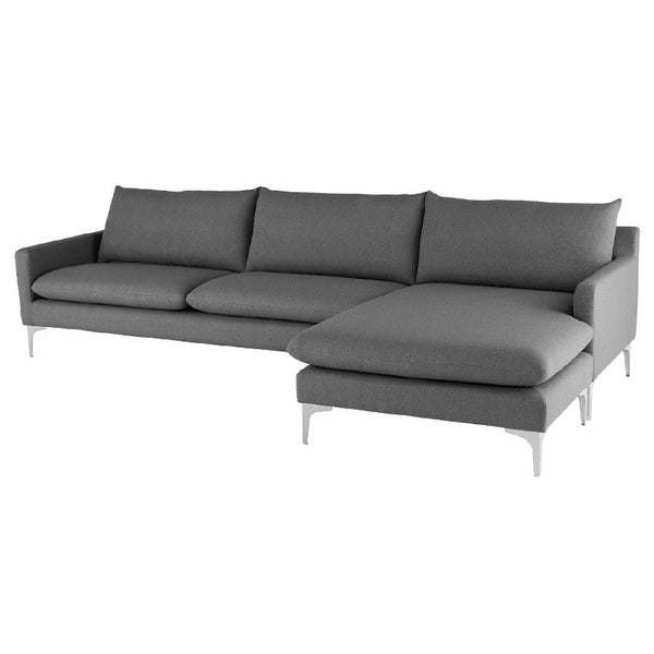 Andy Flip Sectional Slate Grey
