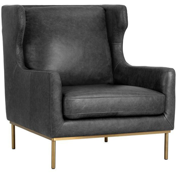 Vicki lounge chair  | Marseille Black