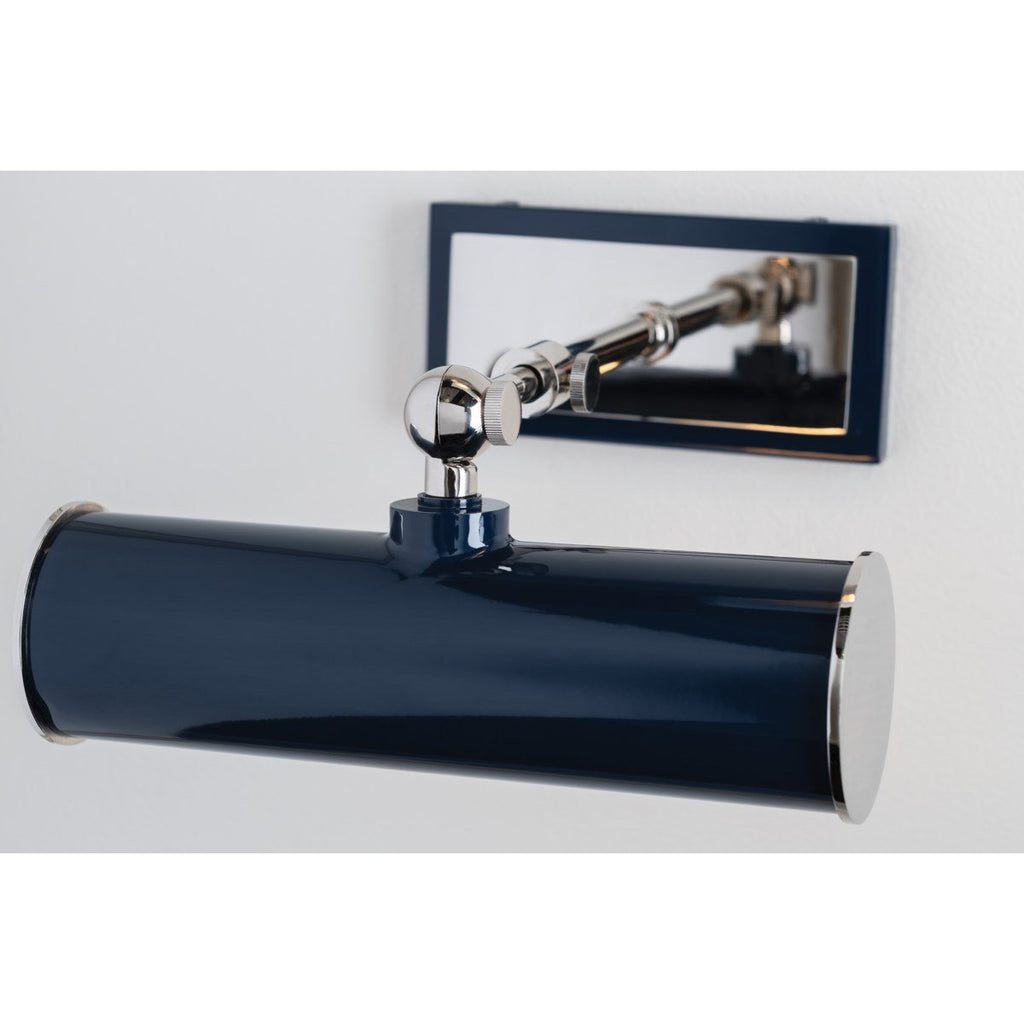 Holly Small Wall Sconce | Polished Nickel/ Navy