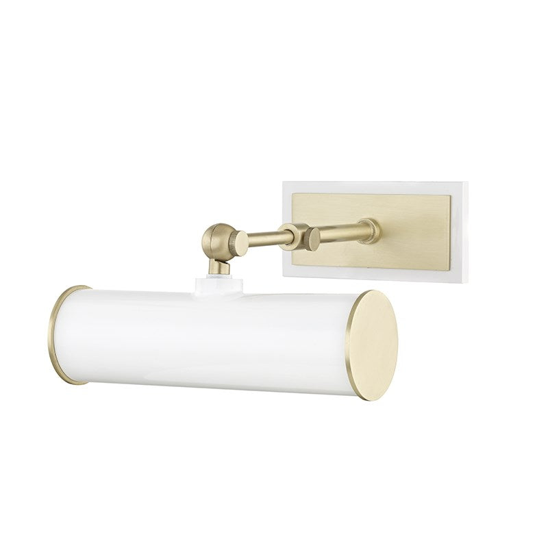 Holly Small Wall Sconce | Aged Brass/ White