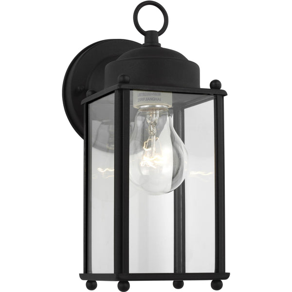 New Castle Wall Lantern (Large) | Clear Black